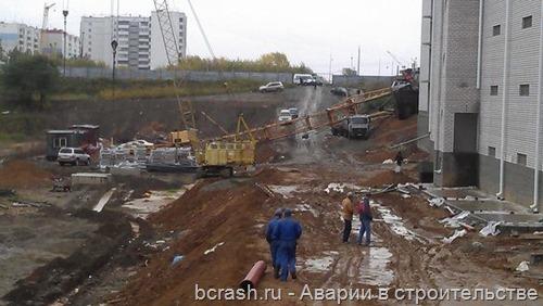 Барнаул на ул. Малахова упал кран