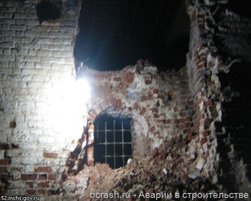 Фролищево обрушение стены монастыря