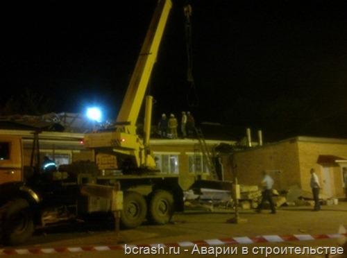 Славянск-на-Кубани Обрушение пищеблока ЦРБ