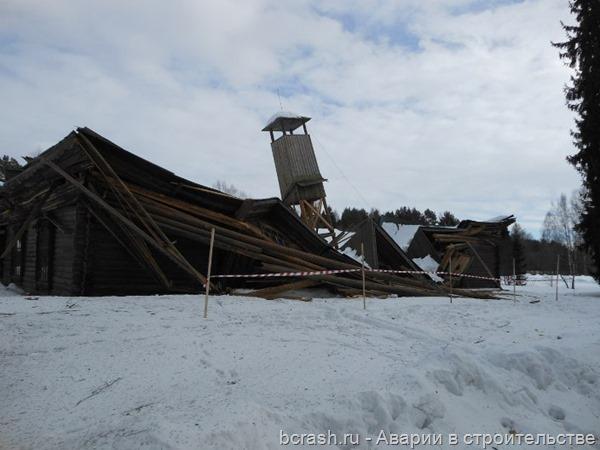 Тверская область. Обрушение пожарного депо в Василево
