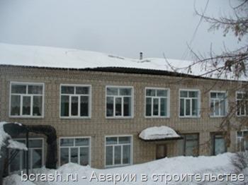 Яранск. Обрушение крыши в детском саду Малышка