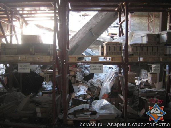 Могилев. Обрушение склада. Фото 4