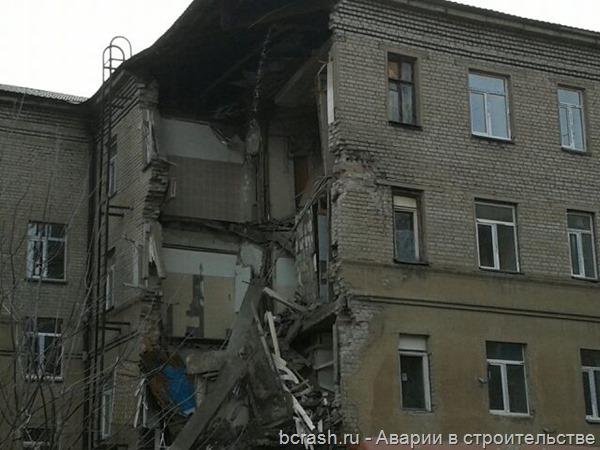 Иваново. Обрушение стены общежития. Фото