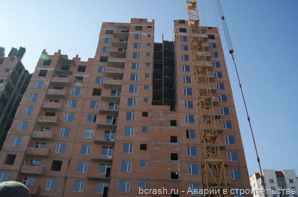 Курск. Обрушение лестниц в новостройке