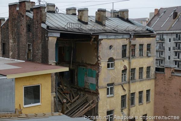 Санкт-Петербург. Обрушение на Лиговском проспекте. Фото