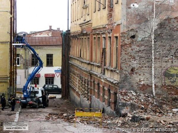 Выборг. Обрушение здания на улице Красина. Фото 5