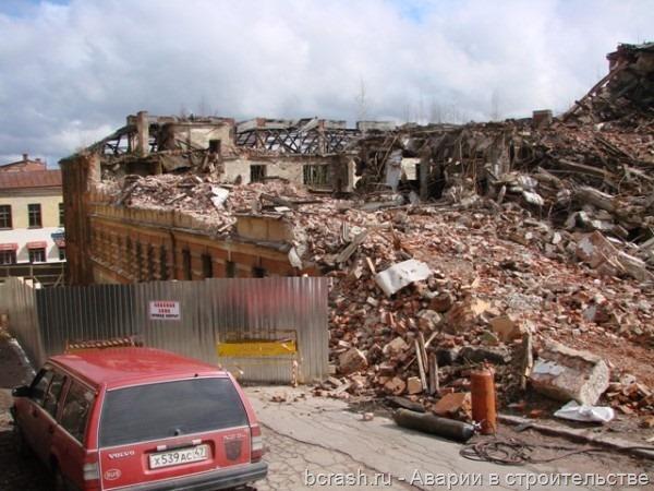 Выборг. Обрушение здания на улице Красина. Фото 6
