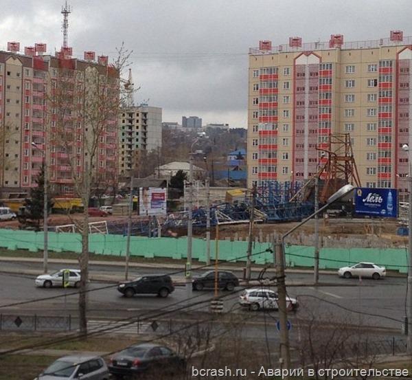 Красноярск. Обрушение крана на улице Киренского