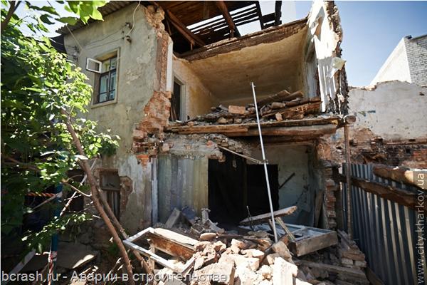 Харьков. Обрушение стены дома. Фото