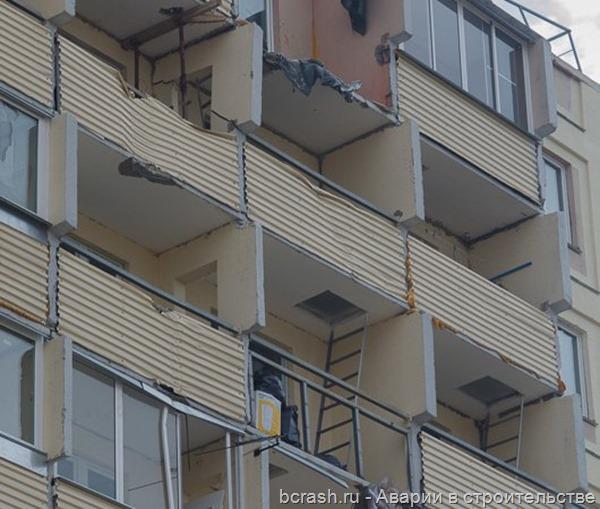 Киров. Падение крана на Ленина. Фото