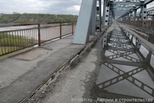 Барнаул. Обрушение моста через Обь. Фото