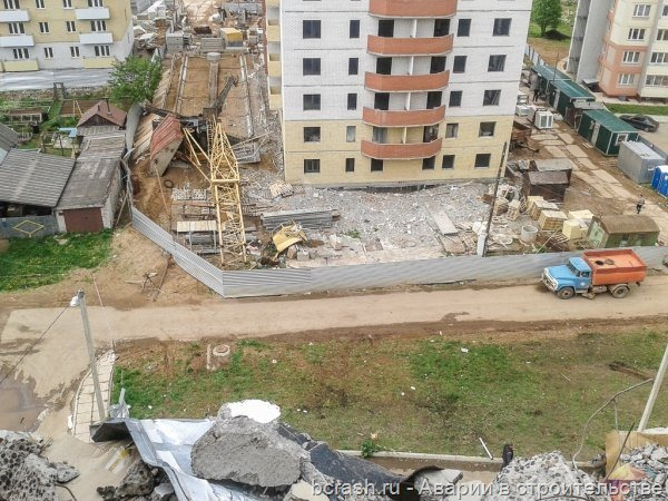 Кунгур. Обрушение жилого дома по улице Свердлова. Фото 1