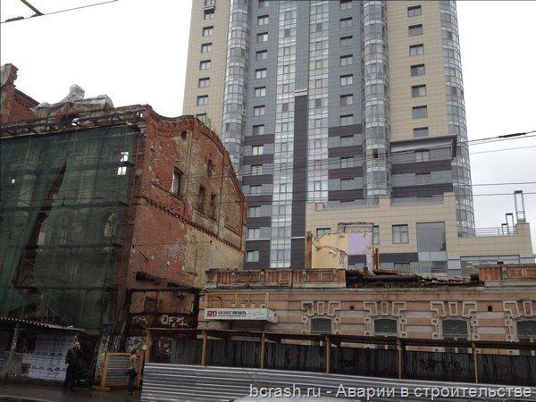Пермь. Обрушение стены на Сибирской