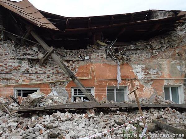 Кунгур. Обрушение жилого дома по улице Свердлова