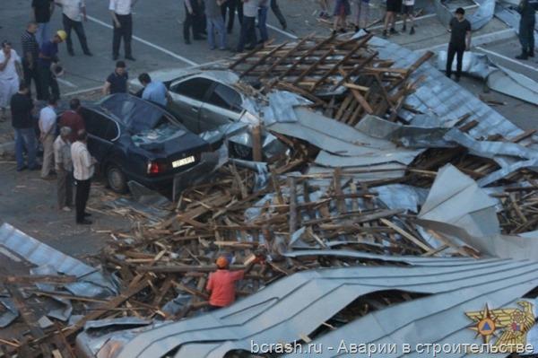 Армения. Ветром сорвало крышу аэропорта Звартноц
