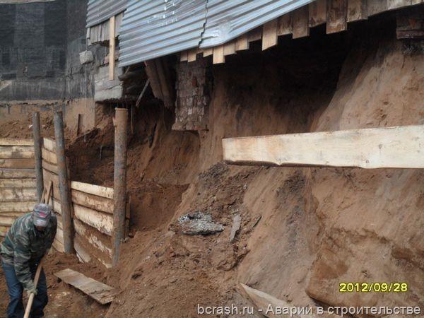 Пермь. Обрушение гаражей на Попова