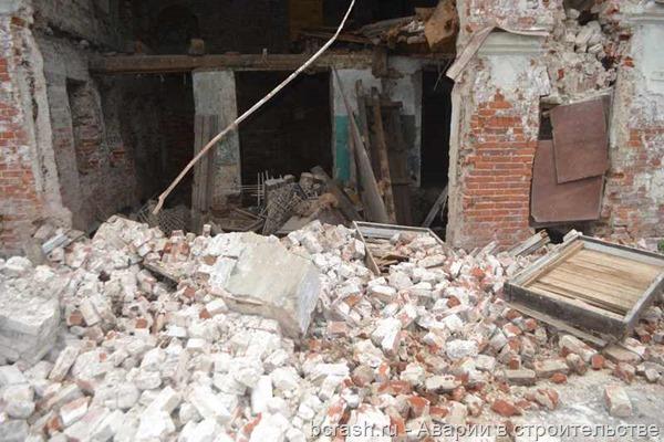 Владимир. Обрушение стены дома по улице Ильича. Фото 4