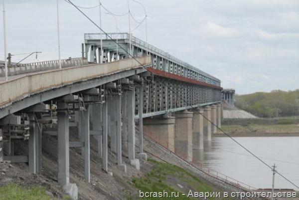 Барнаул. Обрушение моста через Обь