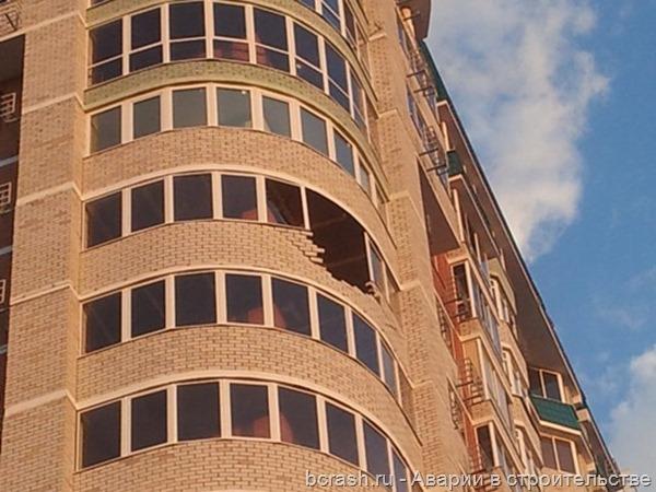Оренбург. Обрушение балконного ограждения на проспекте Победы