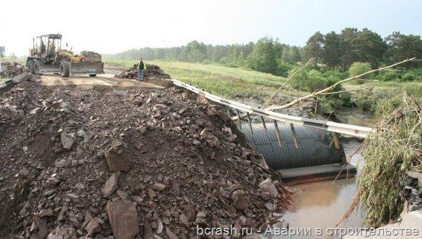 Красноярский край. Разрушени дороги села Малая Минуса