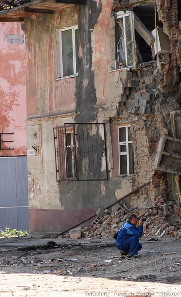 Барнаул. Обрушение на ул Алексеевой 3